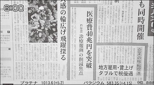 図1 モーニングサテライト(テレビ東京 2015.9.3)